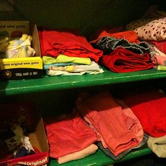 "Ten tidy clothes shelves... Successful day at the ""office"""
