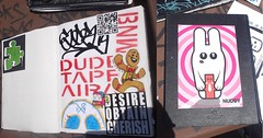 """BRING YOUR BLACK BOOK 3"" (BNW818) Tags: california park 3 cali de graffiti sticker san noho smoke north tags spot dude tape valley hollywood skate writers fernando cinco mayo session safe slap graff dust piece sfv trade bring bnw scs byte aira 818 traders pzl bnws bytedust bnwk bnwc bnw818 bnwf bybb3 bringyourblackbook3"