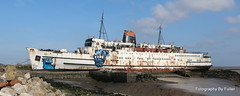 218. The TSS Duke of Lancaster, Llanerch-y-Mor (North Wales). 19-Apr-14; Ref-D103-P218 (paulfuller128) Tags: sunset abandoned wales ship north duke lancaster rhyl prestatyn moored funship tssdukeoflancaster