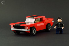 Ford Mustang Classic (kosbrick) Tags: old classic car vintage lego vehicle mustang musclecar moc foitsop