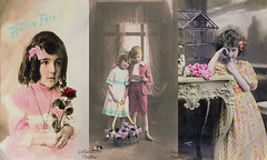 160508 catfm 160508  Thethi (thethi (don't like beta groups)) Tags: illustration 1900 tradition fte maman enfant triptyque carte ancien mosaque mre autrefois faves35 bestof2016 albumautrefois