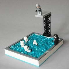 Swimming on the dark side (3) (adde51) Tags: swimming dark star starwars lego side wars vader vignette moc vig adde51