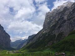 Lauterbrunnen valley with Schwarzmnch (lvalgaerts) Tags: mountain landscape switzerland waterfall spring hike valley bern lauterbrunnen berneroberland schwarzmnch