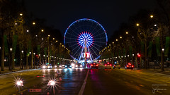 Place de la Concorde | Champs-Elyses (josefrancisco.salgado) Tags: paris france night nikon europa europe ledefrance ferriswheel nikkor fr estrella champselyses placedelaconcorde 85mmf18g d810a