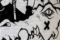 x marks the croc (PDKImages) Tags: flowers windows streetart beauty face daisies contrast manchester graffiti eyes kiss colours murals stunning daisy gods walls artinthecity manchesterstreetgallery