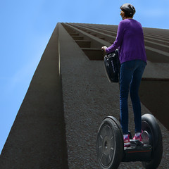 Going Vertical (swong95765) Tags: sky building apple up vertical lady segway skyscrapper