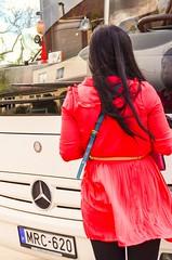 Tourists from China - Visiting Europe from Bratislava Praha TBINGEN to Paris .... Bienvenue  Tbingen! (eagle1effi) Tags: red bus chinese tourist casino frau besucher hungaria tbingen touristen knllchen evobus nettetoilette busmercedes tagesgste chinessin