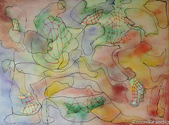 les des Moyens (Monika Seelig) Tags: 2015 23x31 aquarelle art watercolor monikaseelig kunst europe aquarell austria watercolour
