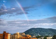 Balmy Bow By Roanoke Star Mill Mountain Rainbow (Terry Aldhizer) Tags: sky mountain mill weather clouds star spring rainbow roanoke bow terry balmy aldhizer wwwterryaldhizercom