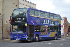 First Eastern Counties 33824 YX63LKO (Will Swain) Tags: great yarmouth 14th may 2016 south east norfolk town bus buses transport travel uk britain vehicle vehicles county country england english centre x1 excel first eastern counties 33824 yx63lko
