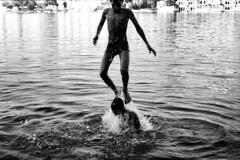 India (maxfloriat) Tags: india travel spirit water 50mm leicam6 blackandwhite nb udaipur theindiatree