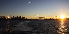 Sunset, Sydney Harbour (LSydney) Tags: sunset sky sun reflection ferry harbour sydney sydneyharbour