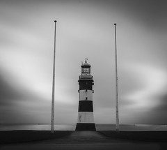 Shine (Robgreen13) Tags: uk lighthouse landscape cloudy devon flagpole seafront breakwater plymouthhoe plymouthsound