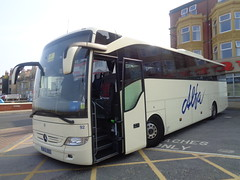 BX15OED Alfa 92 at The Queens Hotel, Blackpool (j.a.sanderson) Tags: mercedes benz coach alfa blackpool 92 coaches tourismo bx15oed