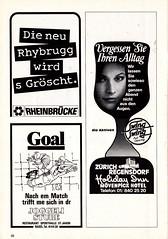 Switzerland vs England - 1981 - Page 40 (The Sky Strikers) Tags: world england cup st schweiz switzerland official basel 150 jakob fr programme offizielles programm qualifier fussballstadion