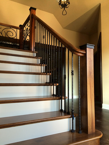 Hickory Stairs and Custom Railing