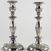 323. Fine Pair of Antique Silverplate Candlesticks
