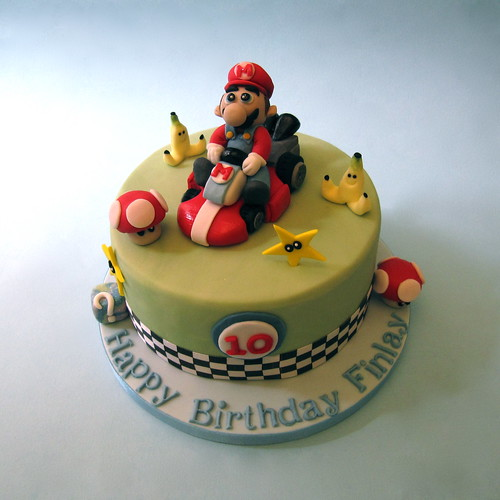 Brilliant Super Mario Kart Birthday Cake A Photo On Flickriver Personalised Birthday Cards Sponlily Jamesorg