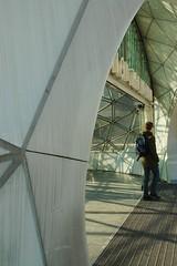 Entrance to the metro (yellowgreywolf) Tags: people glass shadows sunrays malm metrostation triangeln yellowgreywolf