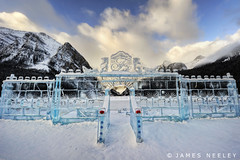 Winter Welcome (James Neeley) Tags: canada banff lakelouise hdr icesculpture banffnationalpark fairmonthotel landscsape 5xp jamesneeley flickr24