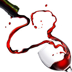 Heart from pouring red wine in goblet isolated on white (zompaezampa) Tags: wedding red party white motion love glass closeup dinner studio bottle honeymoon day friendship shot heart wine symbol drink anniversary background beverage drinking wave ukraine valentine romance winery celebration card alcohol single dating passion valentines dining leisure wineglass activity shape liquid greeting grape isolated pouring filling splashing sommelier
