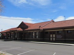 Was a Train Station, now a Bank (Patricia Henschen) Tags: canoncitycolorado denverriograndrr depot drg railroadstation usroute50