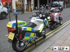 Metropolitan police London2008 (seifracing) Tags: uk london ford police bikes ambulance bmw metropolitan ambulances seifracing
