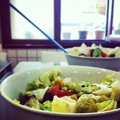 (Jojo xx) Tags: food love window square salad yummy delicious squareformat jojo amaro aljazi فتوش سلطة iphoneography instagramapp uploaded:by=instagram