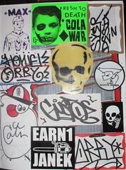 ($here Khan) Tags: white max skull graffiti sticker war phone cola ninja gusto dtc bbk howe lcm ctv gustoe janek thr jaber syer orby ceito desix earn1