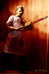 Who Will Survive, and What Will Be Left of Them? (3rd-Rate Photography) Tags: canon movie toy 50mm florida action leatherface 7d figure horror jacksonville 12inch texaschainsawmassacre toyphotography sideshowtoys earlware 3rdratephotography