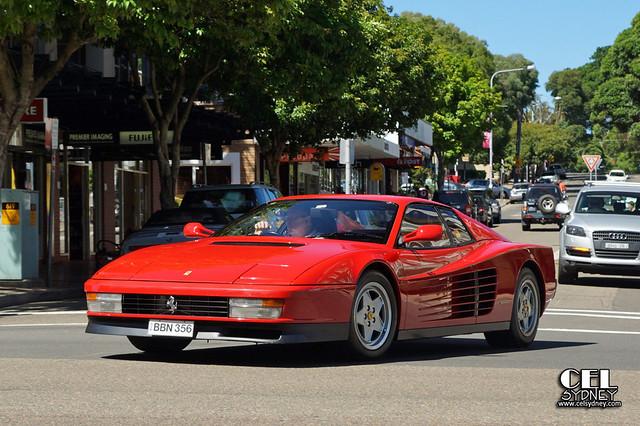 red cars sydney australia automotive ferrari spotted testarossa rosebay rossa celsydney