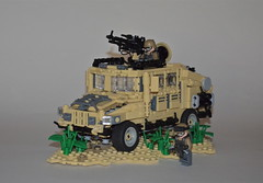 V-06 U.S. Advanced Recon Vehicle ([Renegade]) Tags: america army us lego united tan class special vehicle soldiers operations atv states humvee panther productions turret pilot agents renegade advanced purge recon reconnaissance brickjet