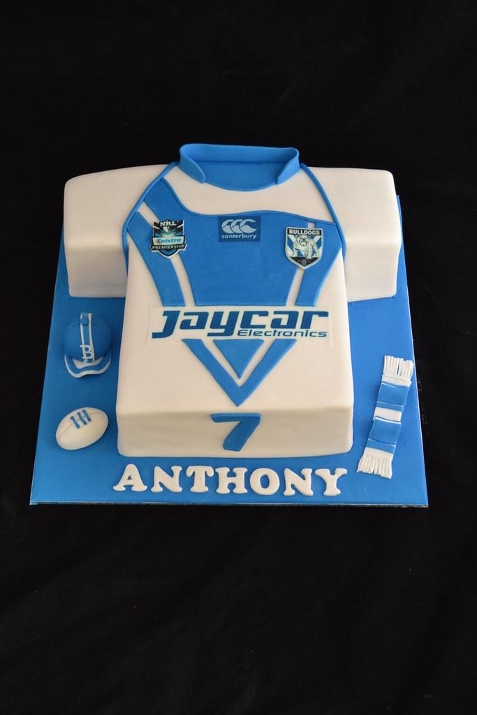 Bulldogs Jersey Cake
