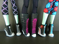 shoes :) (Laila X) Tags: monster high doll dolls disney frankie vip stein mattel datm dayatthemaul shoecomparison