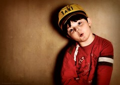 [25/366] (Hammonton Photography) Tags: camera boy red brown yellow kids digital photoshop portraits children lens cool nikon toddler natural taxi flash textures 1855mm february dslr strobe 2012 alienbees strobist ab800 d5000 jessicadigiacomo hammontonphotography