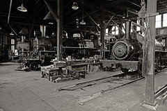 California Railway Museum - Engine Shop (NikonD3xuser1(Thanks for 253,000 visits)) Tags: california railwaymuseum engineshop