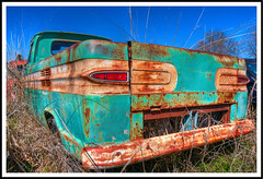 Corvair 95 HDR (hz536n/George Thomas) Tags: winter chevrolet rust lab texas rusty chevy rusted canon5d february hdr 2012 belton corvair photomatix labcolor cs5 corvair95 topazadjust photomatix40 hz536n littlevalleyautoranch chevy95