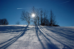 wintersonne bei fieberbrunn