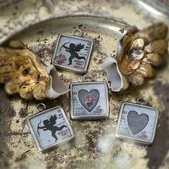 SILHUETTE CUPID COLLECTION (Alicja Radej Arte Ego) Tags: glass handmade oneofakind jewelry jewelery retrocharm
