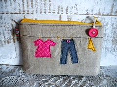 new little one ... (monaw2008) Tags: shop handmade linen fabric pouch clothesline applique monaw monaw2008