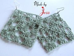 """Crochet Granny Square Earrings • <a style=""""font-size:0.8em;"""" href=""""http://www.flickr.com/photos/66263733@N06/6913871897/"""" target=""""_blank"""">View on Flickr</a>"""