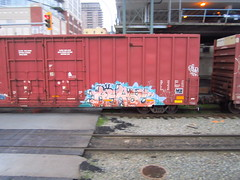 kerse (..bloodsweatandyears..) Tags: west cn train bench graffiti coast bc cp freight bnsf rolling sry