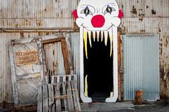 scary clown (Sam Scholes) Tags: old building abandoned halloween digital utah scary nikon mine industrial decay clown entrance mining warehouse coal hauntedhouse hiawatha d300 kingcoal spookalley kingmine usfco unitedstatesfuelcompany