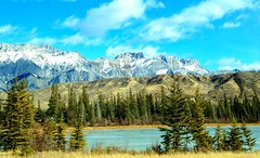 For you: Our breathtaking Canadian Rockies! (Peggy2012CREATIVELENZ) Tags: blue trees sky white canada mountains green water clouds alberta grasses athabascariver jaspernationalpark canadianrockies wow1 50faves flickrbronzeaward heartawards 100commentgroup doubledragonawards photographerparadise dragonflyawards addictedtonature redgroupno1 appleiphone4s peggy2012creativelenz img0295ap