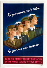For Your Country's Sake Today - For Your Own Sake Tomorrow, 1944 (kitchener.lord) Tags: art poster us uniform propaganda wwii 1944