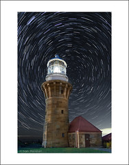 Moonlit (Bibinjac) Tags: light house beach night star long exposure sydney trails australia palm nsw astral celestial barrenjoey
