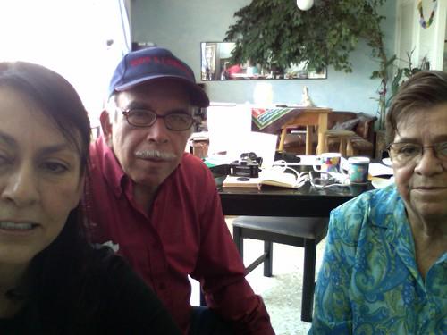 Luz, José y Alejandra en el curso virtual