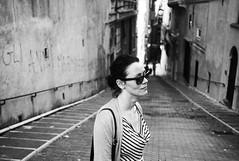 walking about in genoa (gorbot.) Tags: blackandwhite bw genoa genova roberta f19 leicam8 digitalrangefinder ltmmount voigtlander28mmultronf19 siverefex