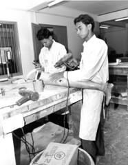 Cambodia: Prosthetic technicians (International Campaign to Ban Landmines) Tags: cambodia prosthesis rehabilitation victimassistance