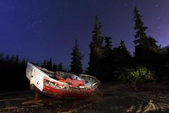 3 CT 3 805 II (raul_lg) Tags: sky lightpainting canon stars barca barco murcia cielo estrellas abandonado largaexposicion maglite3d raullg